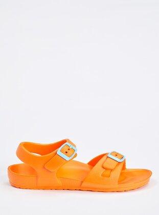 Orange - Girls` Sandals