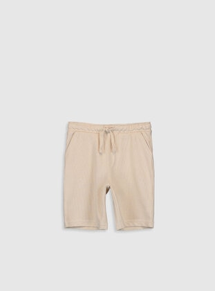 Beige - Boys` Shorts