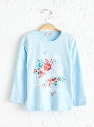 Blue - Girls` T-Shirt - LC WAIKIKI