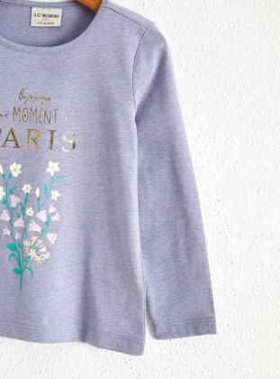 Purple - Girls` T-Shirt - LC WAIKIKI