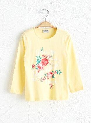 Yellow - Girls` T-Shirt - LC WAIKIKI