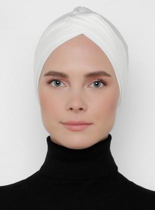 Ecru - Plain - Bonnet - Bone