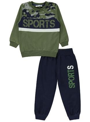 Khaki - Boys` Tracksuit - Civil