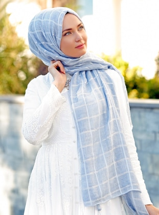 Blue - Plain -  - Shawl