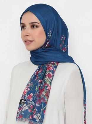 Saxe - Floral - Printed - Shawl