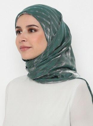 Green - Emerald - Striped - Scarf