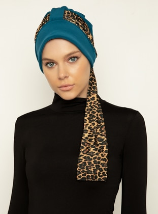 Petrol - Leopard - Instant Scarf