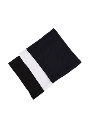 Navy Blue - White - Black - Navy Blue - Simple - Black - Simple - Bonnet - Bone