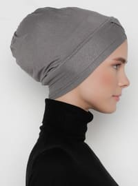 Anthracite - Plain - Bonnet -  Bone