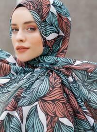 Green - Printed - Shawl