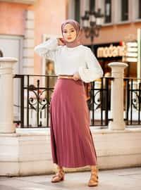 Dusty Rose - Unlined -  - Skirt - Refka