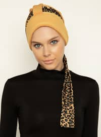Gold - Leopard - Instant Scarf