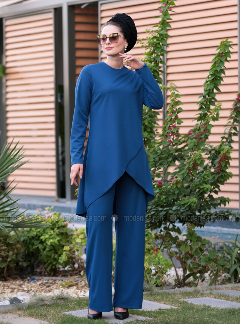 Indigo - Crepe - Suit