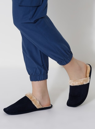 Sandal - Navy Blue - Home Shoes