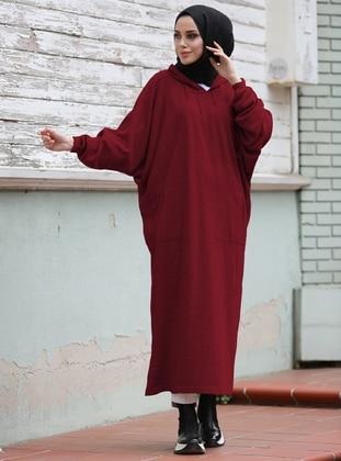 Maroon - Unlined - Knit Tunics