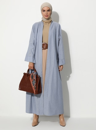 Blue - Unlined - Abaya