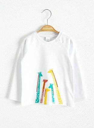 Ecru - baby t-shirts - LC WAIKIKI
