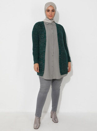 Emerald - Unlined - Acrylic -  - Wool Blend - Knit Cardigans