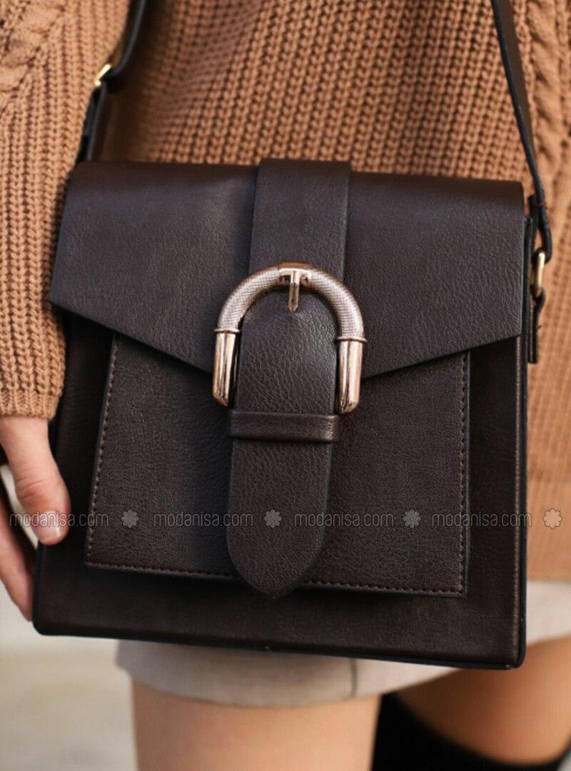 Brown - Crossbody - Satchel - Shoulder Bags