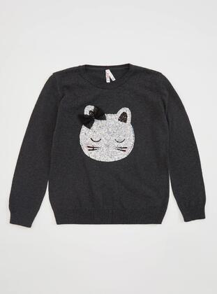 Anthracite - Girls` Pullovers - DeFacto
