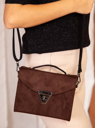 Polyurethane - Brown - Satchel - Shoulder Bags