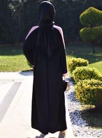 Powder - Black - Unlined - Crew neck - Abaya