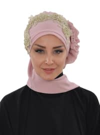 Powder - Plain - Patterned Side - Instant Scarf