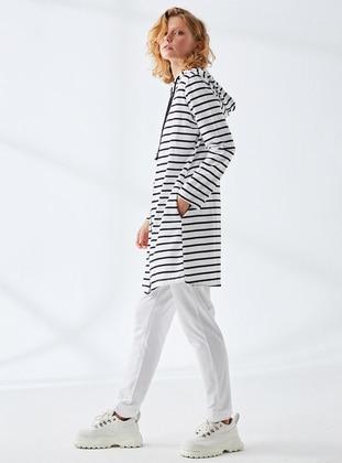 White - Stripe - - Tracksuit Set