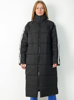 Black - Fully Lined - Polo neck -  - Puffer Jackets - Pinkmark