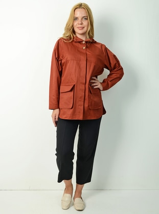 Terra Cotta - Fully Lined - - Trench Coat