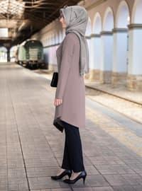 Unlined - Mink - Crew neck - Crepe - Evening Suit