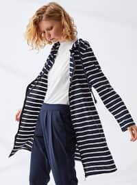 Navy Blue - Stripe -  - Tracksuit Set