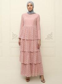 Powder - Fully Lined - Muslim Evening Dress