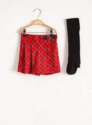 Red - Girls` Shorts