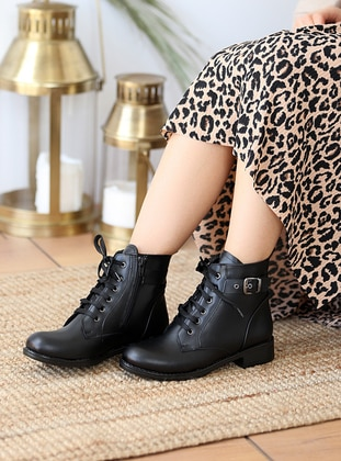 Black - Boot - Boots - Pembe Potin
