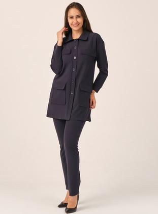 Navy Blue - - Suit