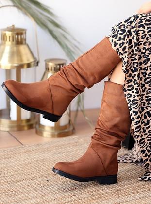 Tan - Boot - Boots - Pembe Potin