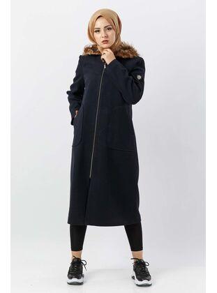 Black - Plus Size Overcoat