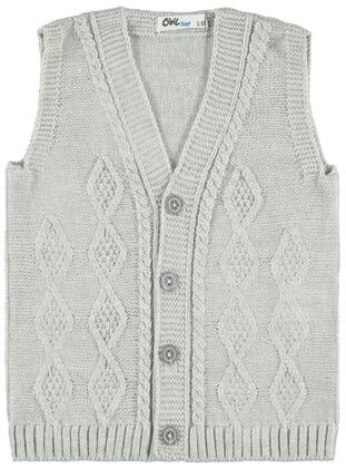 Gray - Boys` Vest - Civil