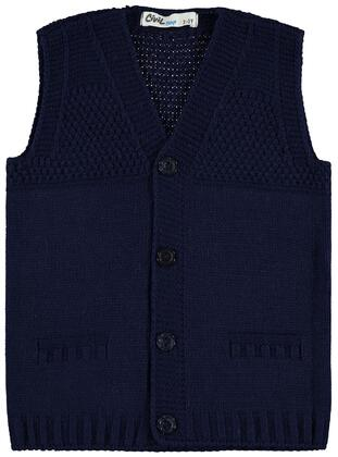 Navy Blue - Boys` Vest - Civil