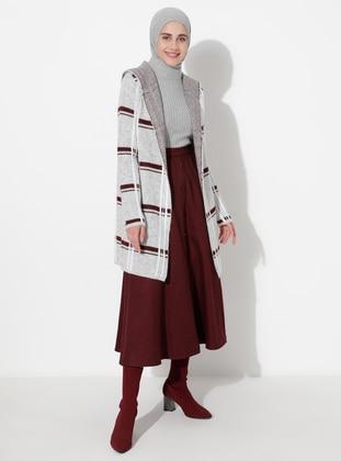 Gray - Multi - Unlined - Acrylic -  - Knit Cardigans