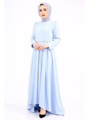 Blue - Muslim Plus Size Evening Dress