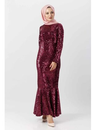 Plum - Muslim Plus Size Evening Dress