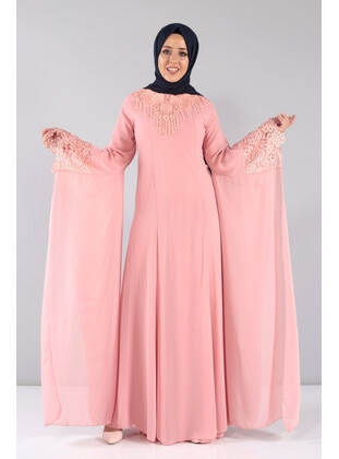 Powder - Muslim Plus Size Evening Dress