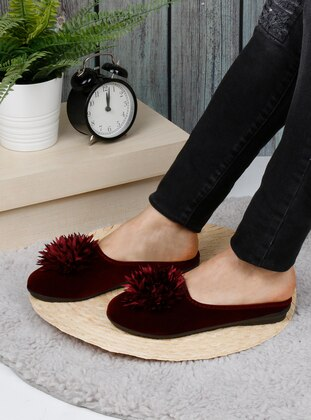 Sandal - Maroon - Home Shoes