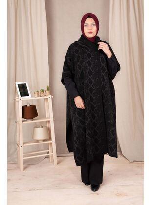 Anthracite - Plus Size Knitwear - BEHREM