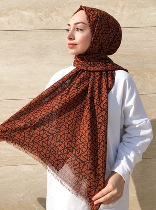 Terra Cotta - Printed -  - Shawl