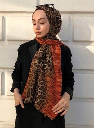 Tan - Leopard -  - Shawl