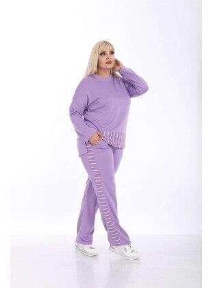 Lilac - Plus Size Tracksuit - MJORA