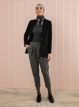 Smoke - Polo neck - Acrylic - - Knit Sweaters - Por La Cara